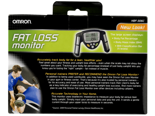 Omron Body Fat Monitor Box Back Side